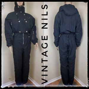 Nils Vintage Ski/Snow Suit in Black || Size 4/6